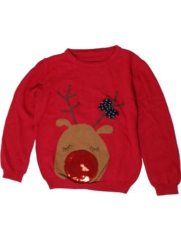Pull fille MATALAN rouge 5 ans hiver #1402602_1