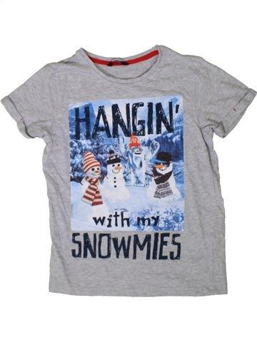T-shirt manches courtes garçon GEORGE bleu 10 ans été #1402634_1