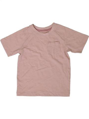 T-shirt manches courtes garçon MATALAN rose 2 ans été #1402682_1