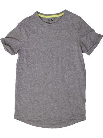 T-shirt manches courtes garçon TU gris 11 ans été #1402913_1
