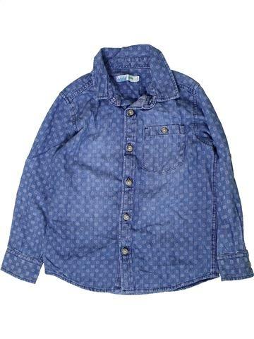 Chemise manches longues garçon M&CO bleu 6 ans hiver #1403011_1