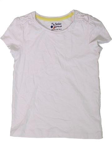 T-shirt manches courtes fille TU blanc 6 ans été #1403034_1