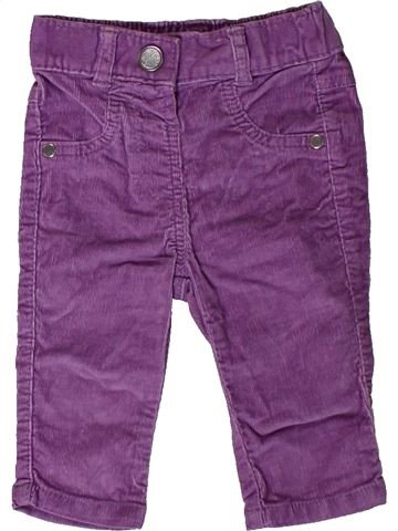 Pantalon fille GEORGE violet 6 mois hiver #1403209_1
