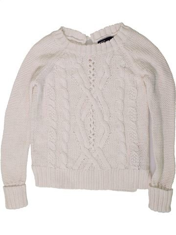 Pull fille GAP blanc 7 ans hiver #1403239_1