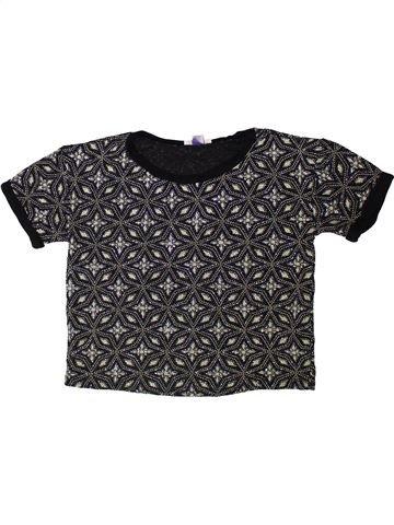 T-shirt manches courtes fille RIVER ISLAND noir 8 ans hiver #1403282_1