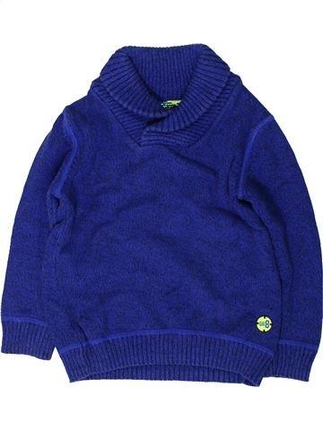 Pull garçon F&F bleu 4 ans hiver #1403309_1