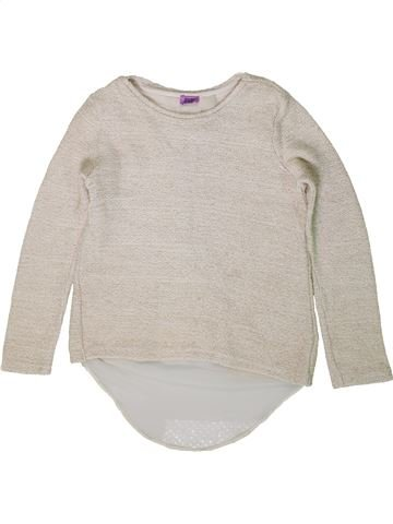 Pull fille F&F blanc 9 ans hiver #1403363_1
