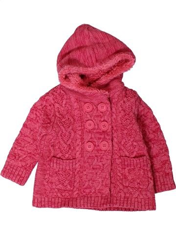 Gilet fille GEORGE rose 12 mois hiver #1403380_1