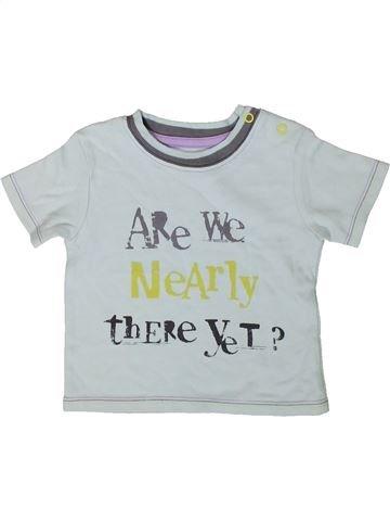 T-shirt manches courtes garçon GEORGE gris 6 mois été #1403459_1