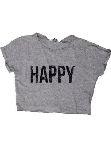 T-shirt manches courtes fille NEW LOOK gris 11 ans été #1403468_1