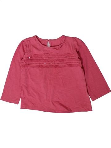 T-shirt manches longues fille MATALAN rose 4 ans hiver #1403478_1