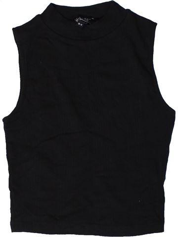 T-shirt sans manches fille NEW LOOK noir 11 ans été #1403554_1