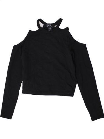 T-shirt manches longues fille NEW LOOK noir 11 ans hiver #1403625_1