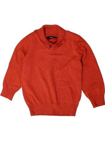 Pull garçon GEORGE rouge 3 ans hiver #1403656_1