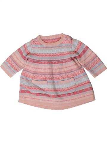 Robe fille GEORGE rose 3 mois hiver #1404024_1