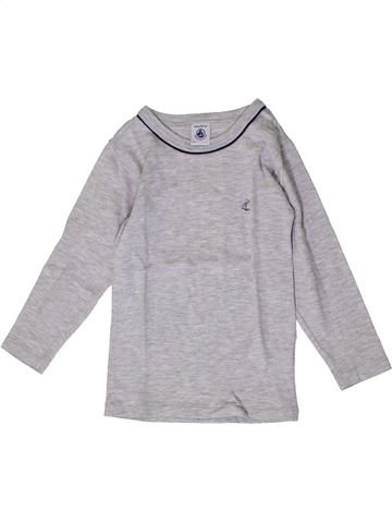 Camiseta de manga larga niño PETIT BATEAU gris 4 años invierno #1404262_1