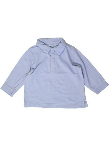 Polo de manga larga niño BOUT'CHOU azul 9 meses invierno #1404321_1