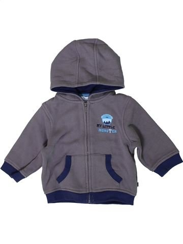 Sweat garçon OKAIDI bleu 6 mois hiver #1405855_1