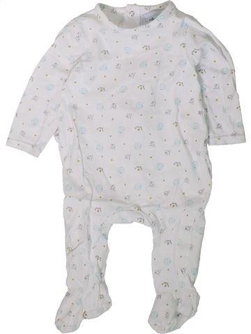 Pijama de 1 pieza niño PREMAMAN blanco 9 meses verano #1406337_1