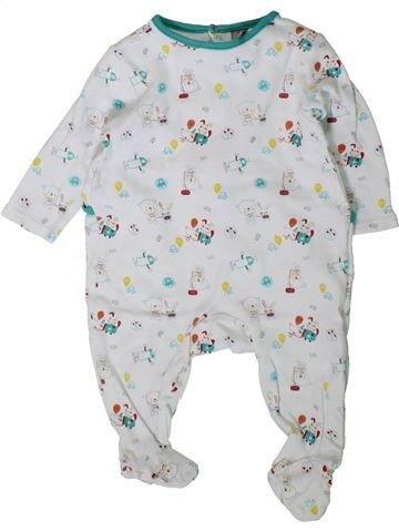 Pijama de 1 pieza niño ORCHESTRA blanco 9 meses verano #1406338_1
