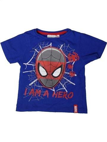 T-shirt manches courtes garçon SUPERS HÉROS bleu 3 ans été #1406742_1