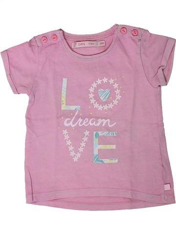 Camiseta de manga corta niña GEMO rosa 12 meses verano #1406966_1
