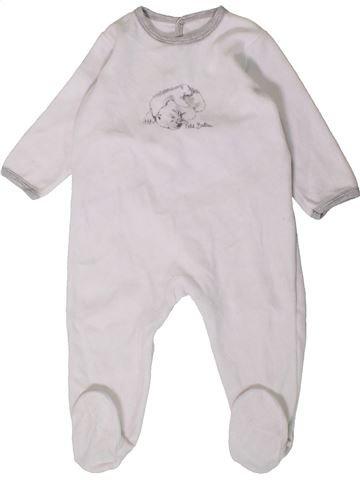 Pijama de 1 pieza niño PETIT BATEAU blanco 18 meses invierno #1407455_1