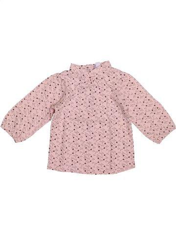 Camiseta de cuello alto niña KIMBALOO rosa 6 meses invierno #1409510_1
