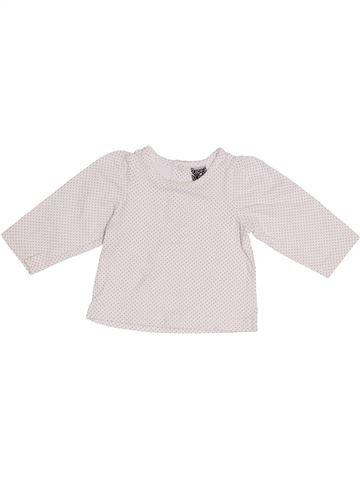 T-shirt manches longues fille TAPE À L'OEIL blanc 3 mois hiver #1410589_1