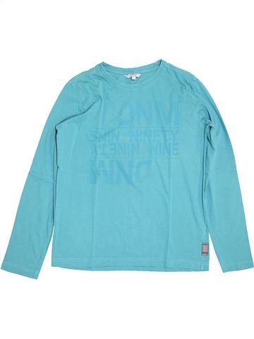 T-shirt manches longues garçon JBC bleu 14 ans hiver #1410823_1