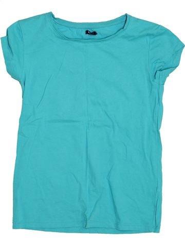 T-shirt manches courtes fille KIABI bleu 10 ans été #1410986_1