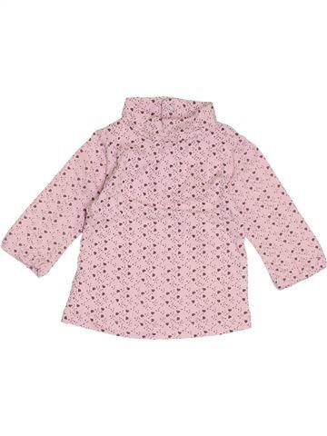 Camiseta de cuello alto niña KIMBALOO rosa 6 meses invierno #1411540_1