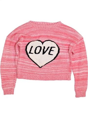 Pull fille KYLIE rose 12 ans hiver #1414705_1
