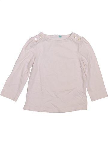 Camiseta de manga larga niña JOHN LEWIS blanco 9 meses invierno #1414737_1