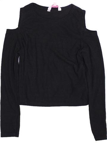 T-shirt manches longues fille MISS E-VIE noir 8 ans hiver #1415509_1