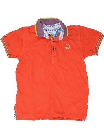 Polo manches courtes garçon BAKER orange 6 ans été #1415823_1