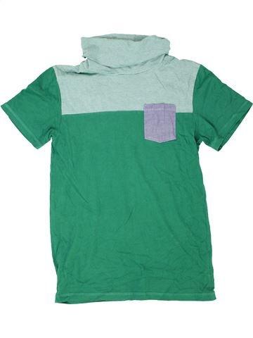 T-shirt manches courtes garçon DEBENHAMS vert 13 ans été #1416037_1