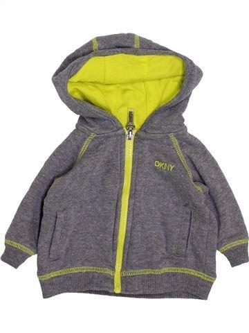 Sweat garçon DKNY gris 3 mois hiver #1418566_1