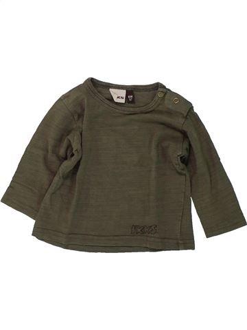 T-shirt manches longues garçon IKKS marron 6 mois hiver #1418725_1
