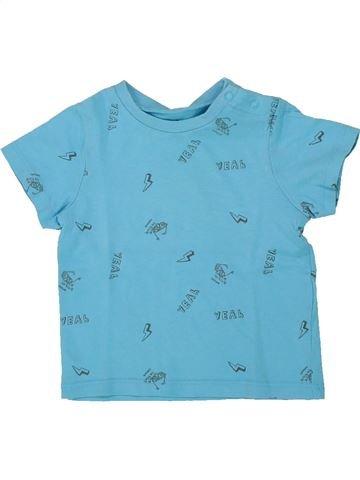 T-shirt manches courtes garçon GRAIN DE BLÉ bleu 6 mois été #1418768_1