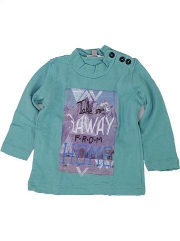 T-shirt manches longues garçon GRAIN DE BLÉ bleu 6 mois hiver #1418888_1