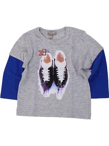 T-shirt manches longues garçon GRAIN DE BLÉ gris 6 mois hiver #1418889_1