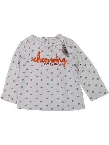 Camiseta de manga larga niña 3 SUISSES blanco 6 meses invierno #1418936_1