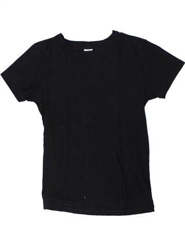 T-shirt manches courtes unisexe PETIT BATEAU noir 12 ans été #1419002_1
