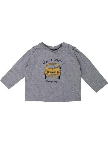 T-shirt manches longues garçon BOUT'CHOU gris 12 mois hiver #1419225_1