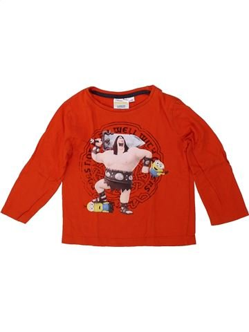 T-shirt manches longues garçon LES MINIONS rouge 3 ans hiver #1419268_1