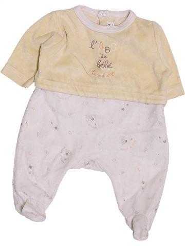 Pyjama 1 pièce unisexe SUCRE D'ORGE blanc naissance hiver #1419309_1