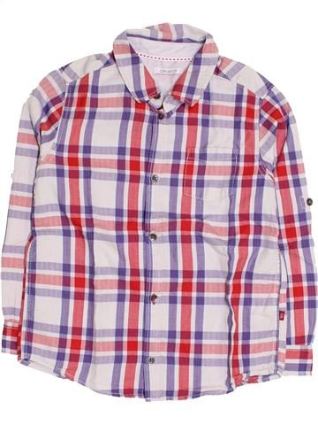 Chemise manches longues garçon OKAIDI rose 6 ans hiver #1419327_1