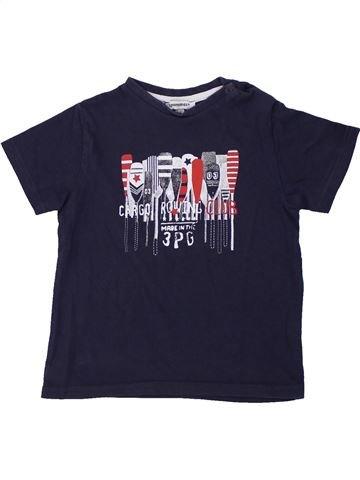 T-shirt manches courtes garçon 3 POMMES bleu 3 ans été #1419367_1