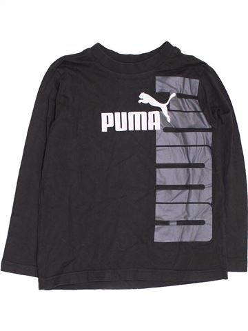 T-shirt manches longues garçon PUMA noir 8 ans hiver #1419498_1